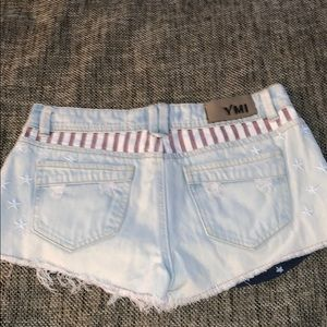 YMI Shorts - American flag print denim jean shorts